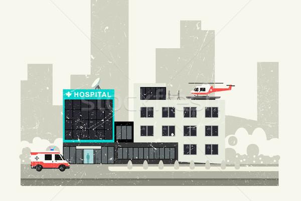 Hospital grunge illustration. Stock photo © biv