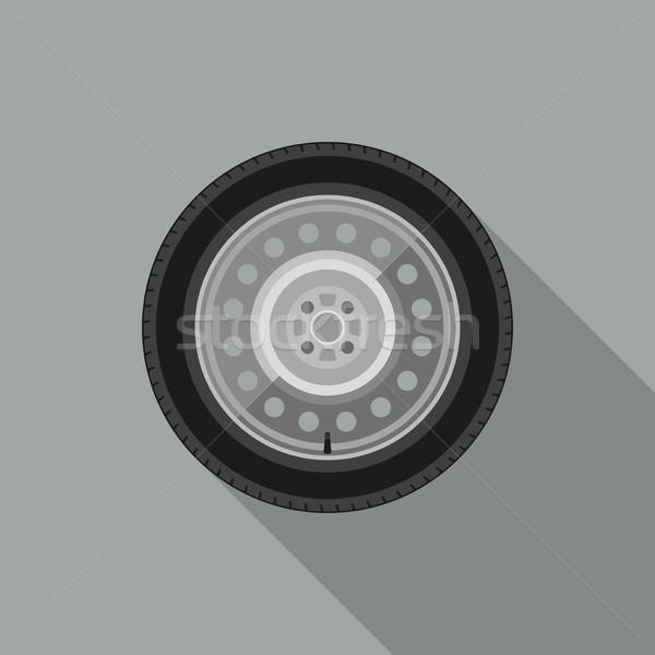 Stock photo: Car wheel icon