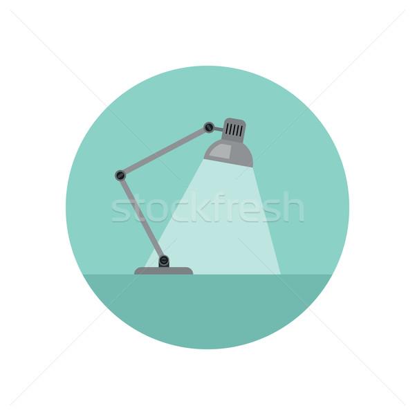 ランプ アイコン デスク スタイル 表 照明 ストックフォト © biv