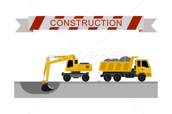 Construction machines icons. Stock photo © biv