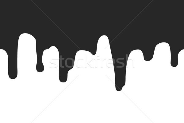 Sınır örnek siyah boya Stok fotoğraf © biv