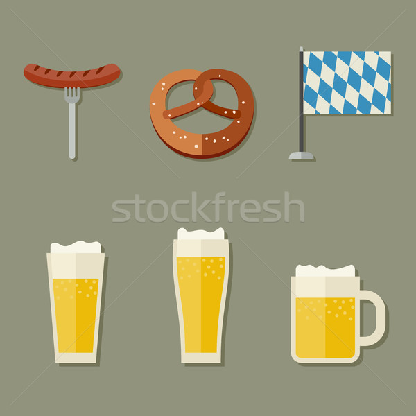 Beer icons Stock photo © biv