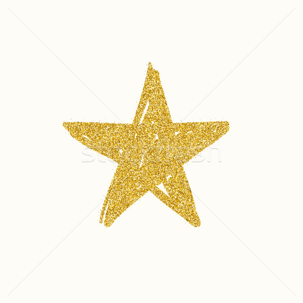 Gold glitter star Stock photo © biv