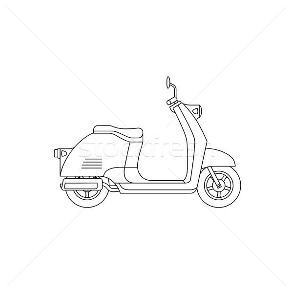 スクーター 行 図面 ベクトル 薄い 実例 ストックフォト © biv
