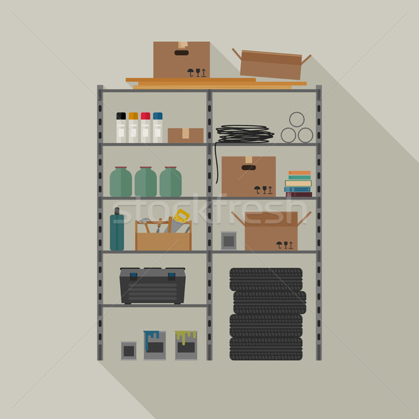 Metal storage vector illustration. Stock photo © biv