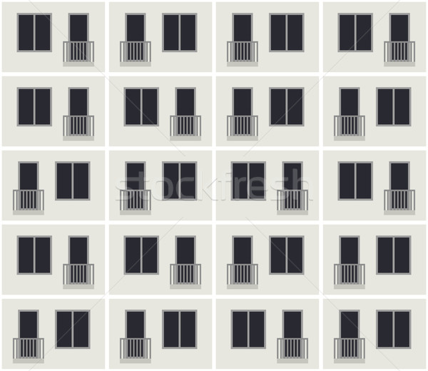 Building facade pattern Stock photo © biv