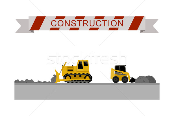 Construction machines icons. Stock photo © biv