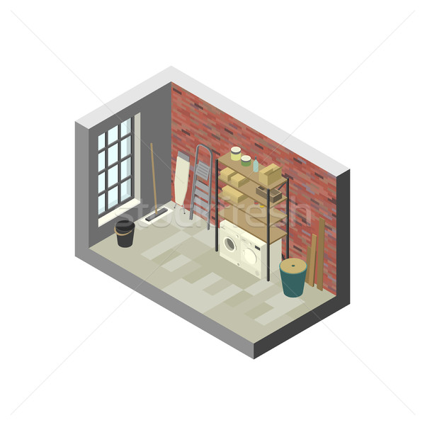 Storeroom in isometric view. Stock photo © biv