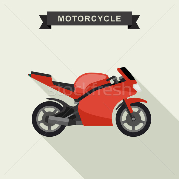 Sport vélo illustration rouge style moto Photo stock © biv
