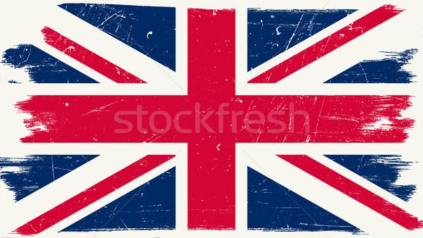 Büyük britanya bayrak grunge İngiliz bayrağı arka plan imzalamak Stok fotoğraf © biv