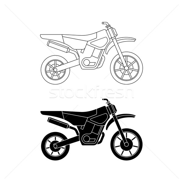 Motorcycle line icons. Stock photo © biv