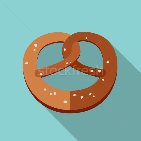 Tuzlu kraker ikon stil vektör basit örnek Stok fotoğraf © biv