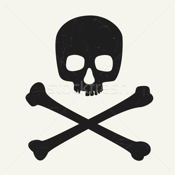 頭蓋骨 シンボル 危険 健康 背景 死 ストックフォト © biv