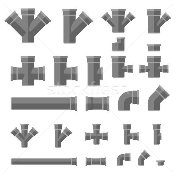 Pipes flat icons Stock photo © biv