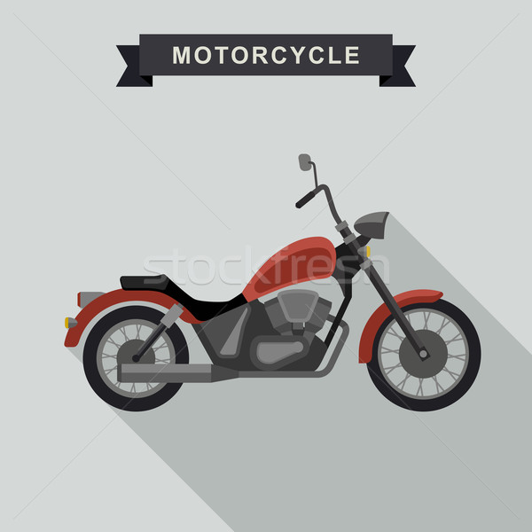 Red chopper motorcycle. Stock photo © biv