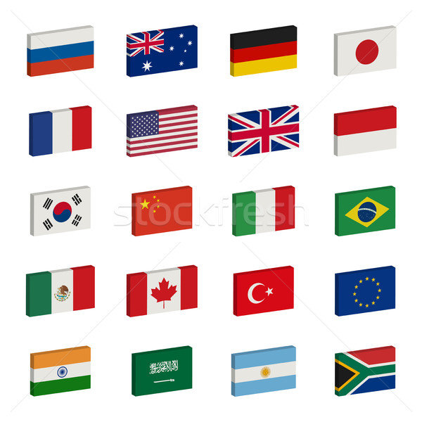 Stock photo: Flags icons