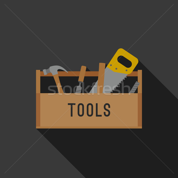 Stock photo: Tools flat icon.