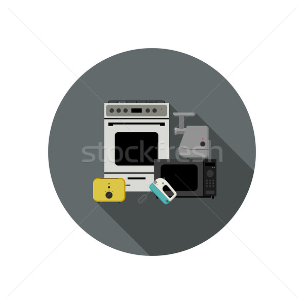 Household appliances icon Stock photo © biv