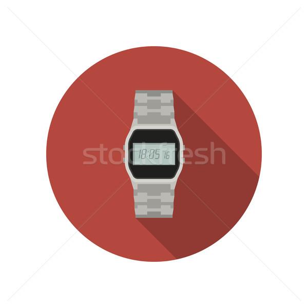 時計 アイコン スタイル 手 長い 影 ストックフォト © biv
