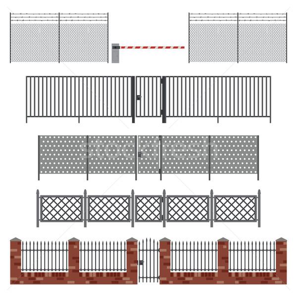 Metal stil basit dizayn bahçe arka plan Stok fotoğraf © biv