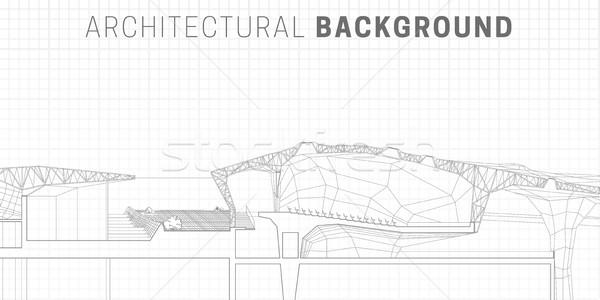 Architectural horizontal background Stock photo © biv