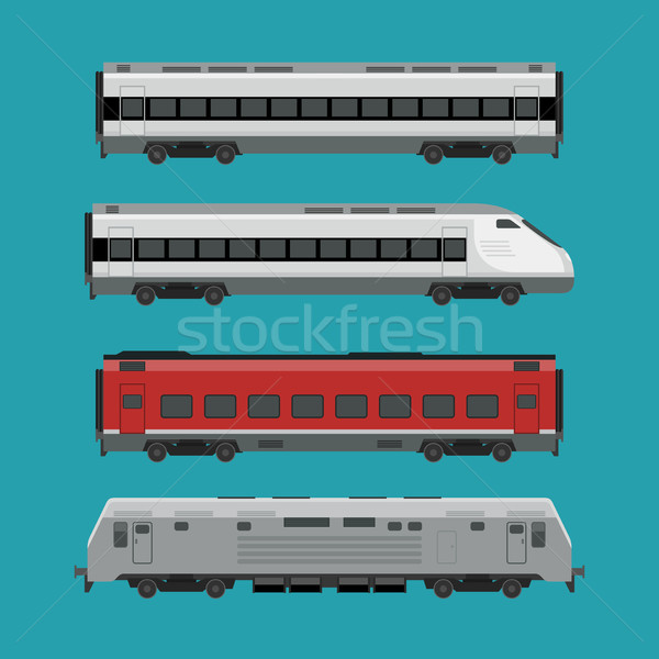 Passenger trains Stock photo © biv