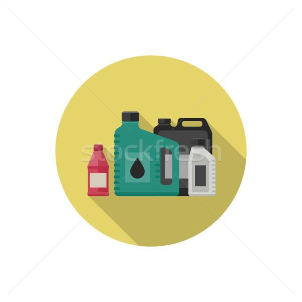 Motor olieverf icon stijl vector eenvoudige Stockfoto © biv