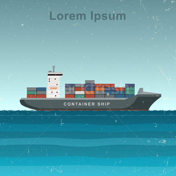 Cargo ship with containers Stock photo © biv