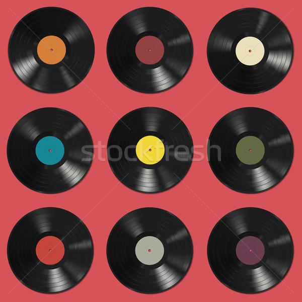 Vinyl records pattern Stock photo © biv