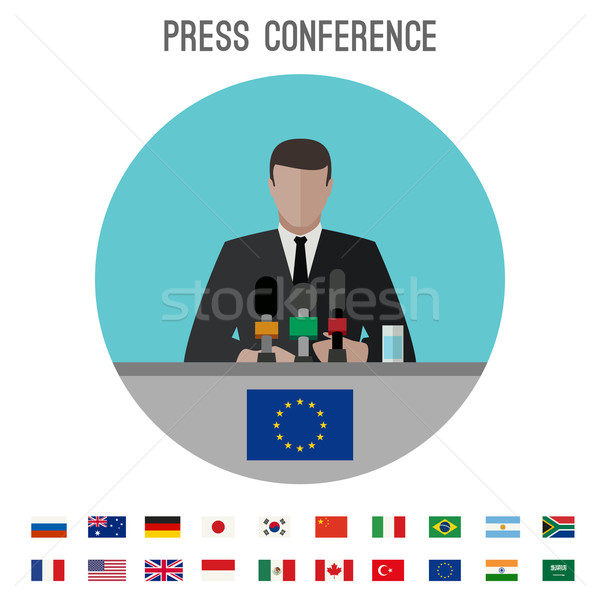 Press conference icon Stock photo © biv