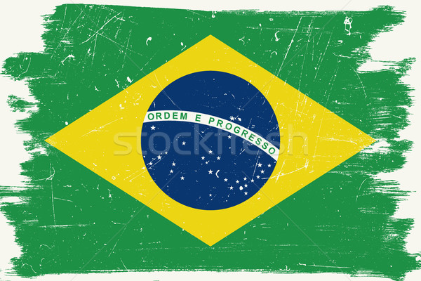 Brazilian grunge flag Stock photo © biv