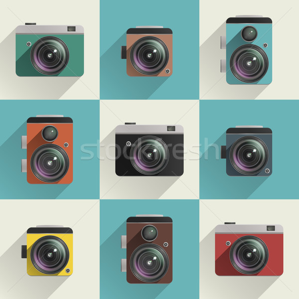 Camera icons Stock photo © biv