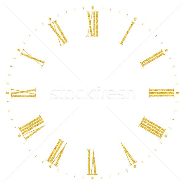Clock vintage comporre oro glitter Foto d'archivio © biv