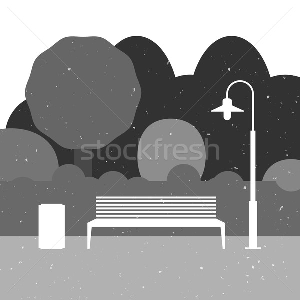 Outdoor furniture silhouette Stock photo © biv