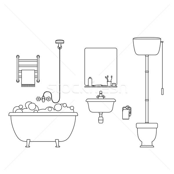 Bathroom line interior. Stock photo © biv