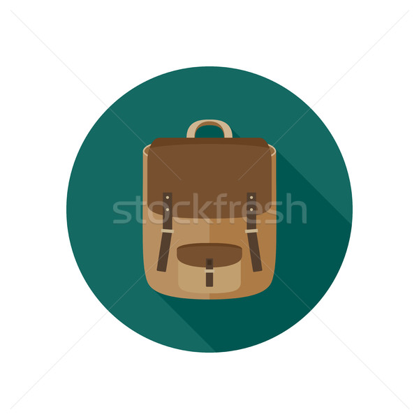 Backpack flat icon Stock photo © biv
