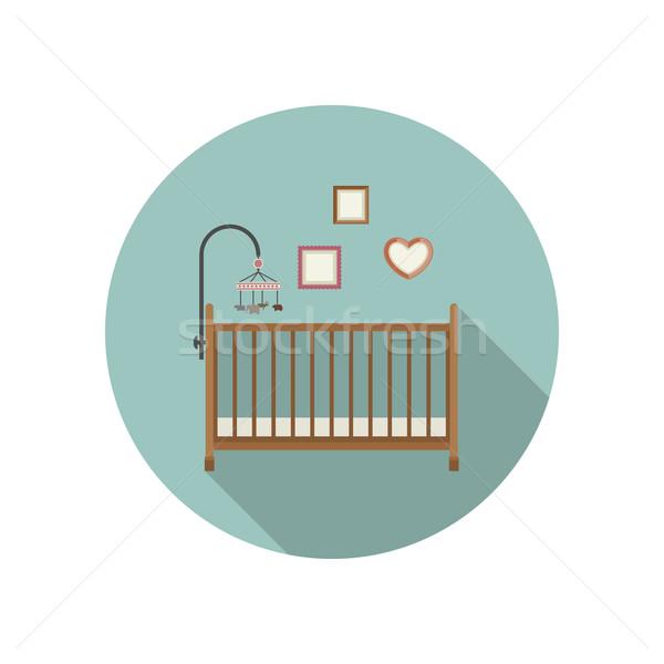 Foto stock: Bebê · ícone · vetor · ilustração · família