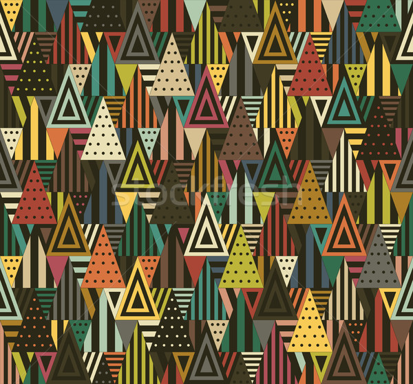 Disegno geometrico colore nero diverso texture Foto d'archivio © biv