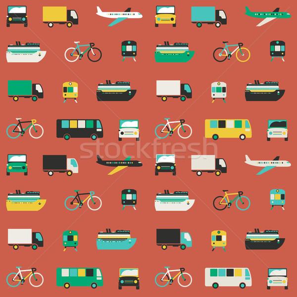 Stok fotoğraf: Taşımacılık · model · vektör · simgeler · taşıma
