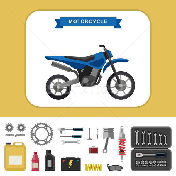 Motosiklet stil vektör basit örnek Stok fotoğraf © biv