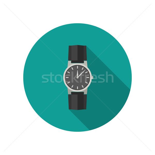 手 時計 アイコン 長い 影 スポーツ ストックフォト © biv