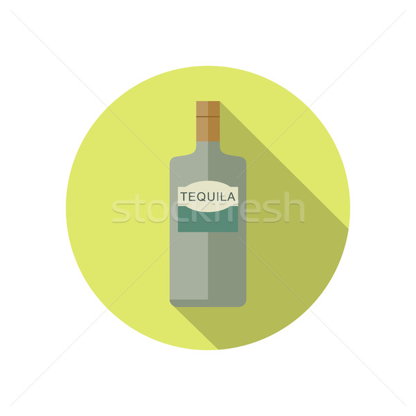 Tequila icon stijl vector fles achtergrond Stockfoto © biv
