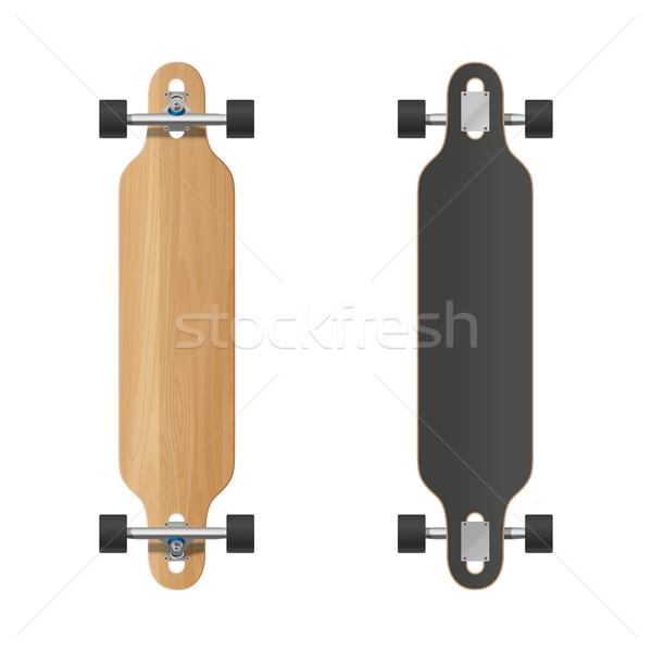 Longboard vector illustration. Stock photo © biv