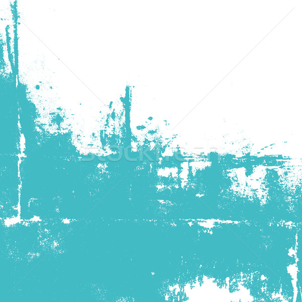 Abstract wall painted in turquoise color. Stock photo © biv