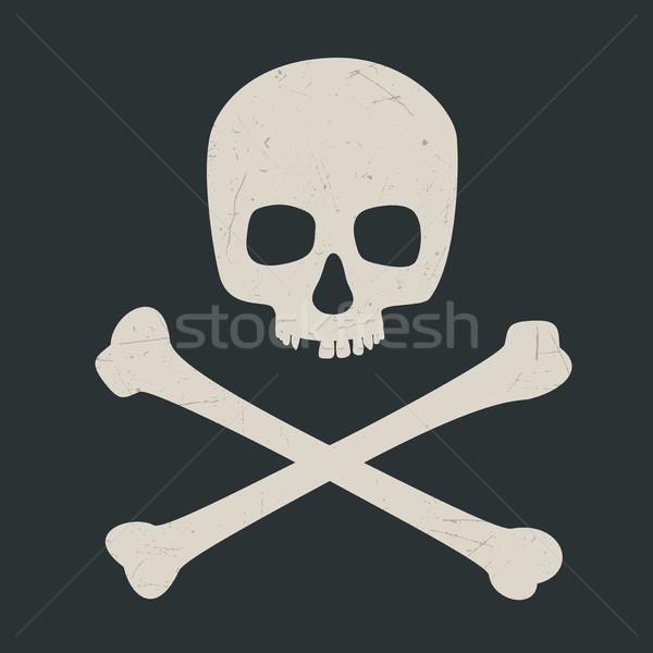 頭蓋骨 暗い シンボル 危険 デザイン 健康 ストックフォト © biv