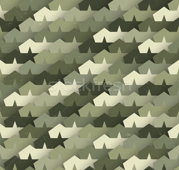 Camouflage sterren vector militaire abstract Stockfoto © biv