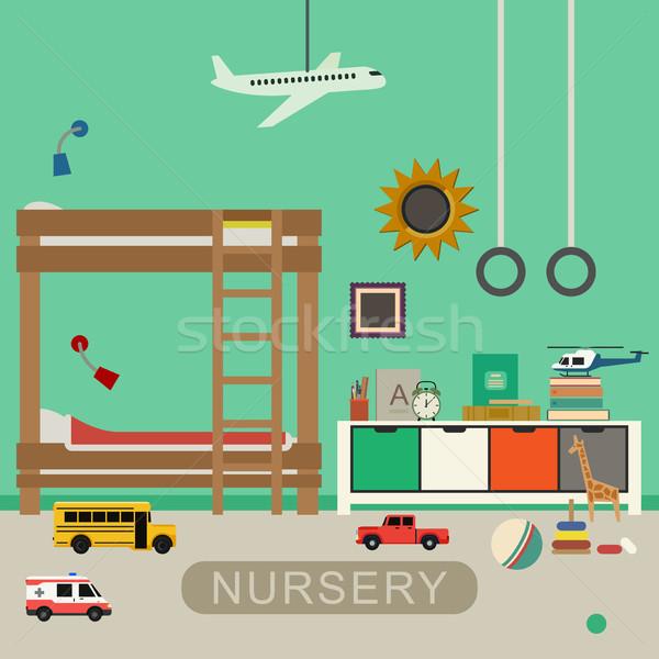 Nursery baby room interior. Stock photo © biv
