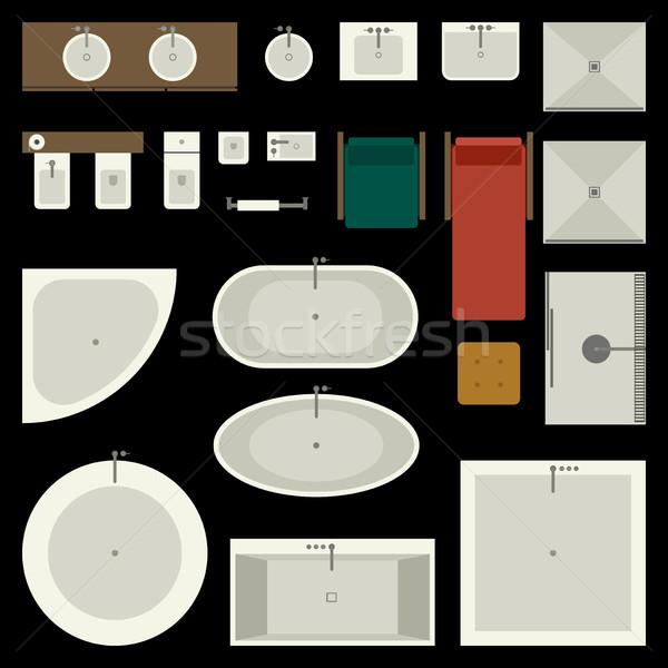 Bathroom furniture set Stock photo © biv