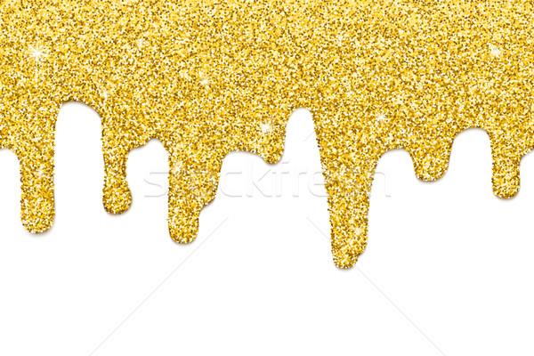 Dripping gold seamless Stock photo © biv