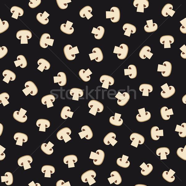 Funghi pattern vettore ripetibile illustrazione Foto d'archivio © biv